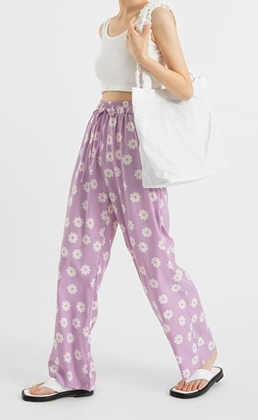 Daisy banding wide pants