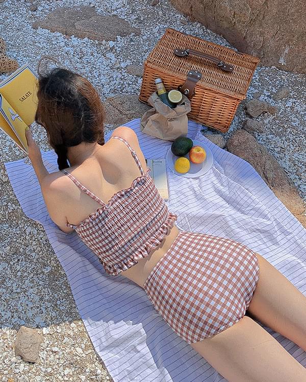 Weave smoke check bikini