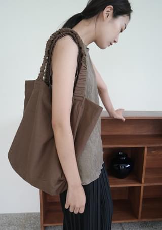 shirring cotton shoulder bag