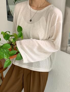 韓國空運 - Nature linen back sweatshirt 長袖上衣