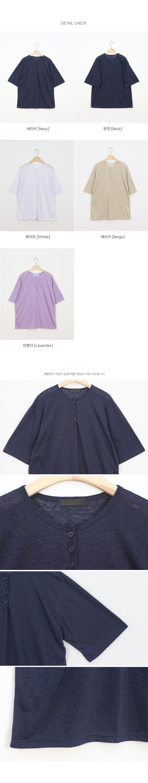 Warp Summer Linen Short Sleeve T-Shirt