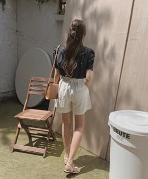 韓國空運 - Dessin Linen Short Pants 短褲