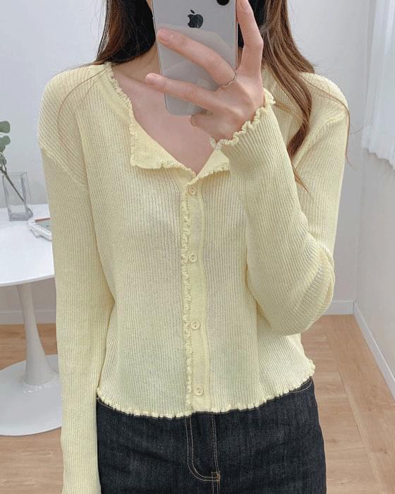 감사세일♥ 썸머 프릴 골지 knit cardigan - 4color
