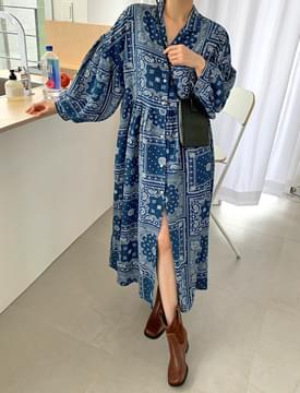 Paisley Puffron Dress