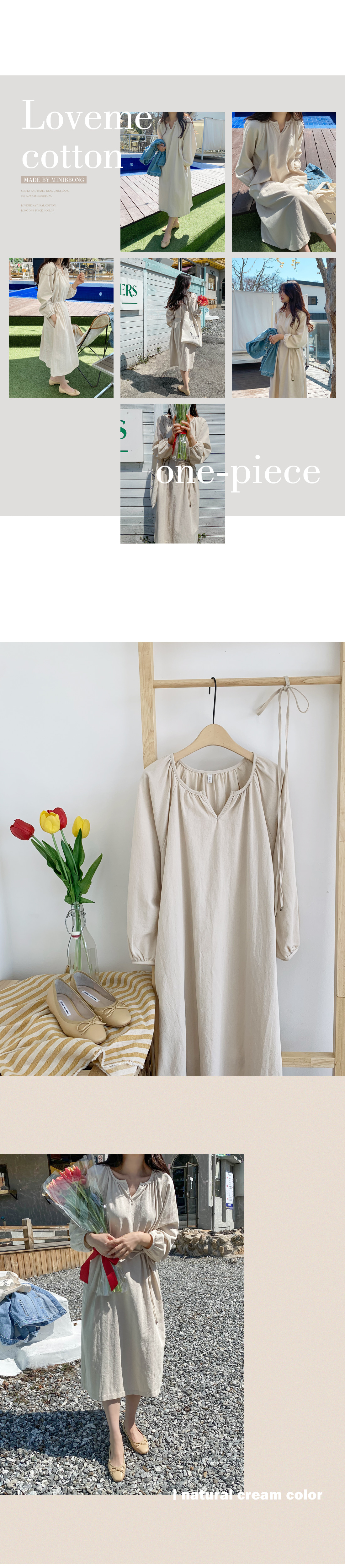 Love Me Natural Cotton Long Dress