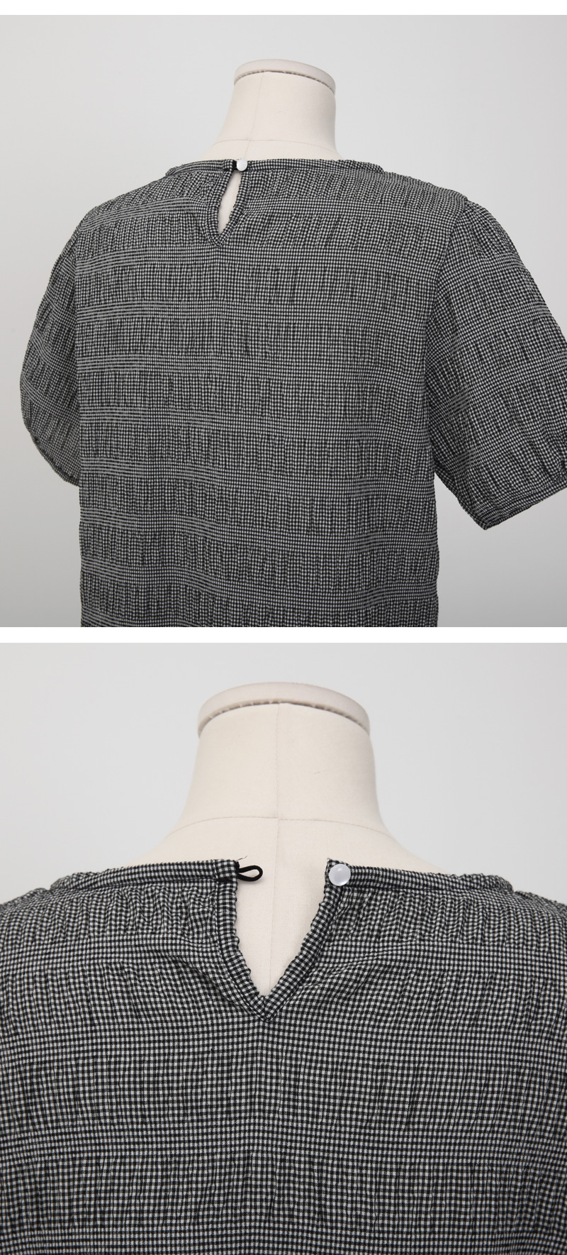 Jerry wrinkle puff blouse_Y