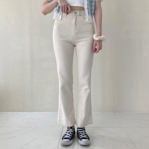 Cotton bootcut pants P#YW505