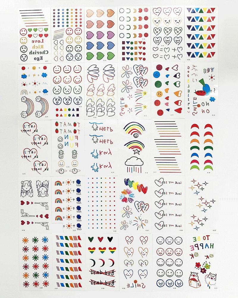 Color Tattoo Tattoo Hyuna Tattoo Sticker
