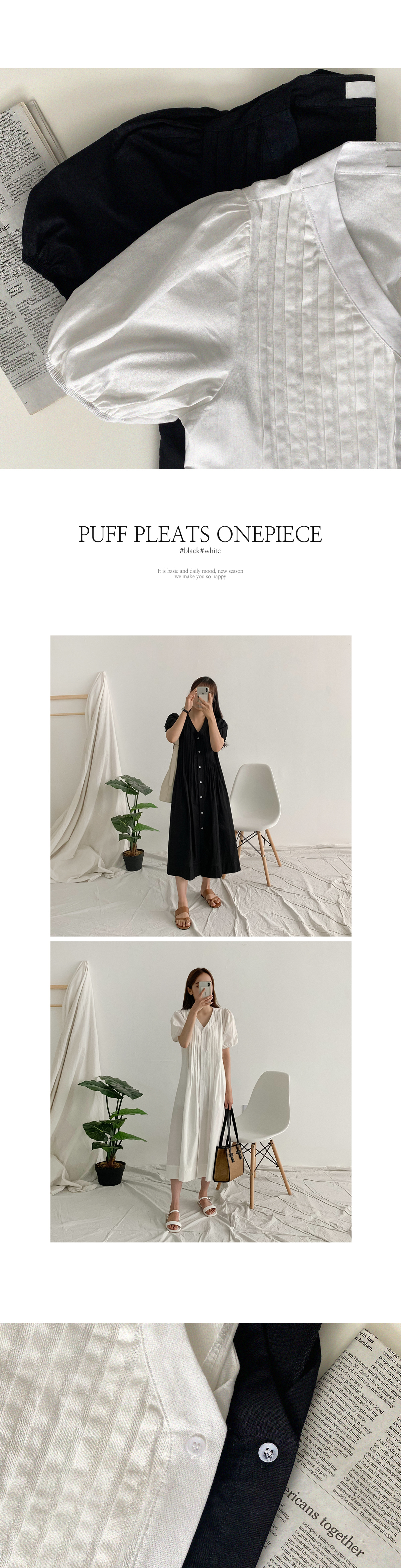 Vanel Pin Chin Linen Long Dress