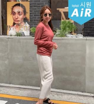 韓國空運 - Cool summer knitted t-shirt #108330 針織衫