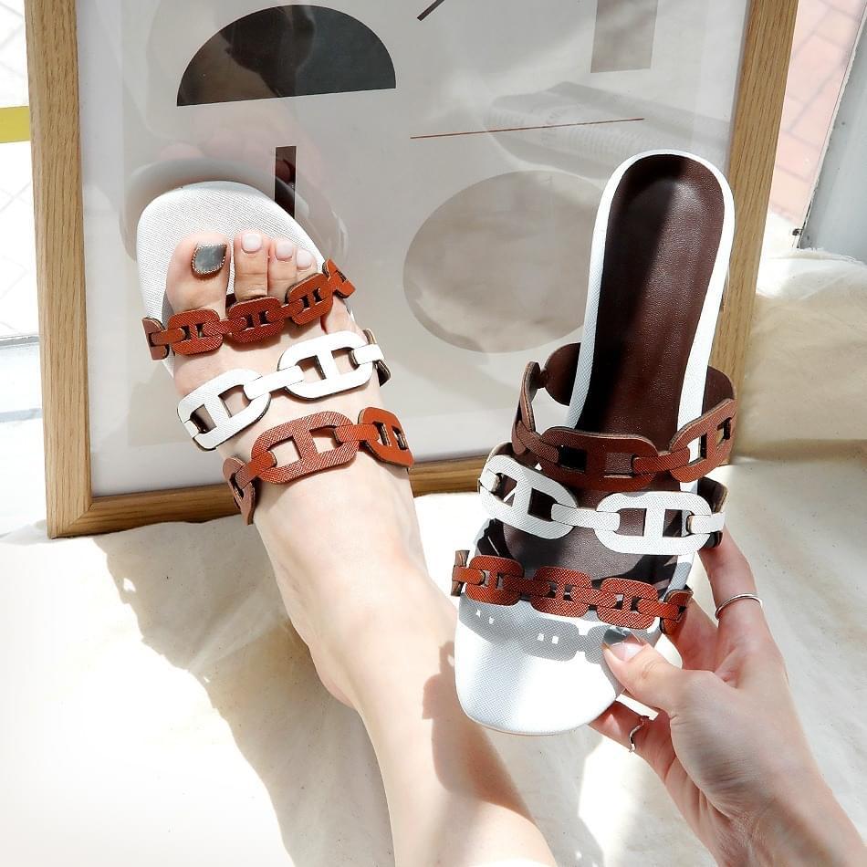 Etiel Mule Slippers 4cm