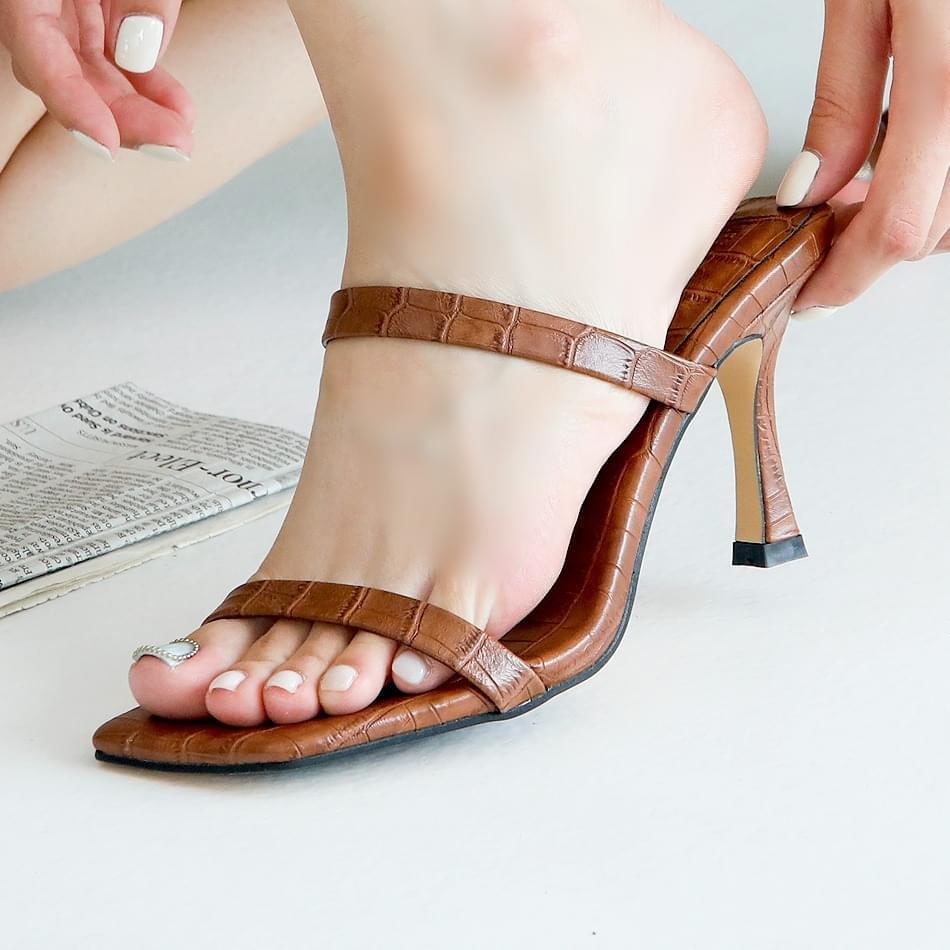 Reel mule slippers 8 cm