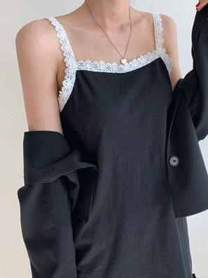 韓國空運 - Hayden Lace String Dress 及膝洋裝