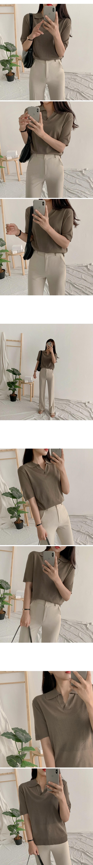 Kine color short sleeve knit