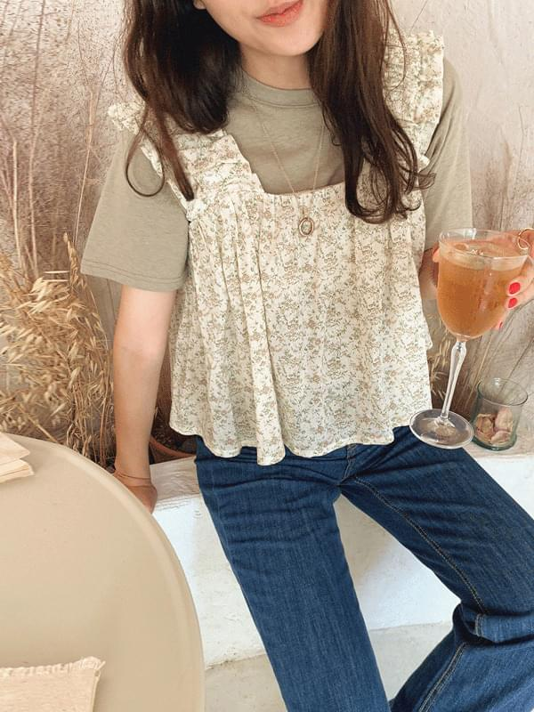 Wild flower bustier blouse