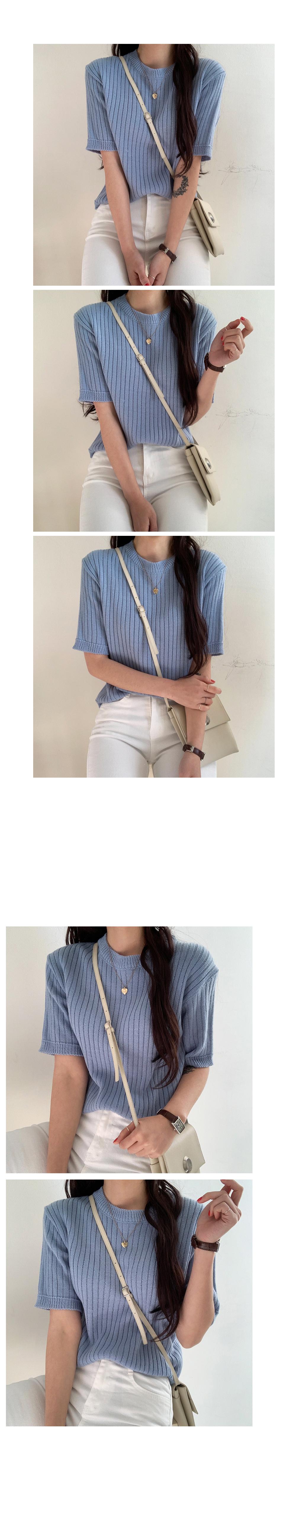 Light knit short sleeve
