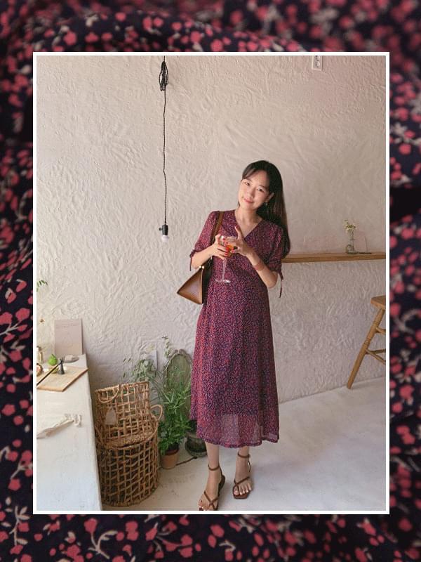 Marmalade♥.Ribbon Line Wrap Cherry Blossom Dress