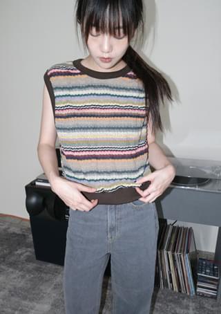 indie knit vest (2colors)
