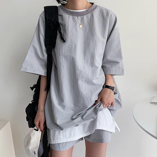String short sleeve + short pants set