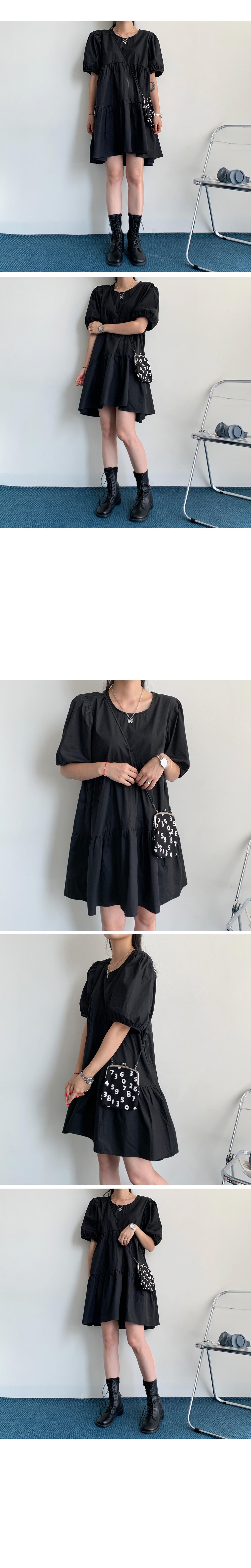 Puff Cancan Mini Dress