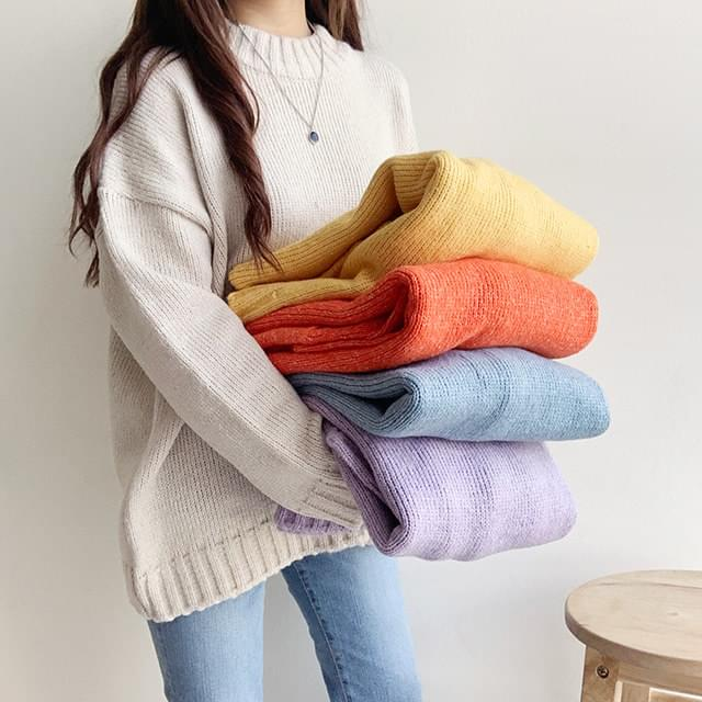 Basic color round knit