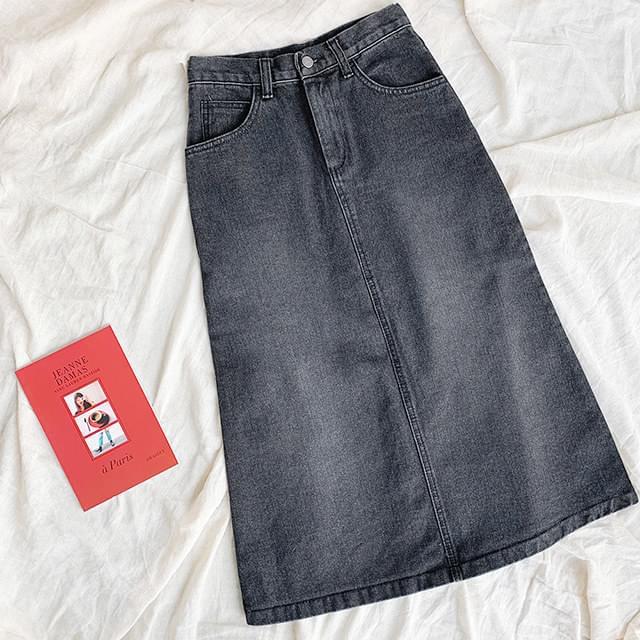 Penny black blue long skirt