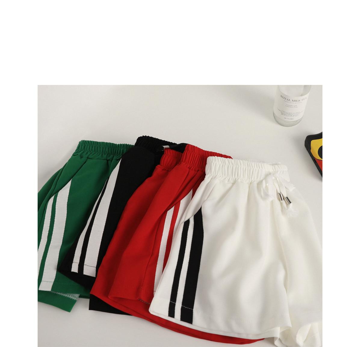 Two-line hot mini pants