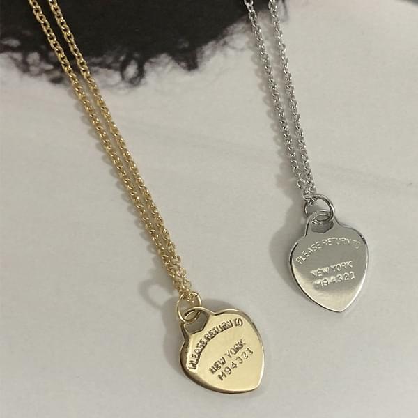 *Jewellery*Heart Lettering Necklace