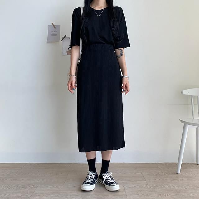 Bling short sleeve + skirt set