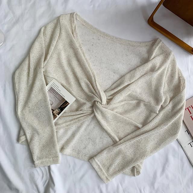 Summer twist sheer knit