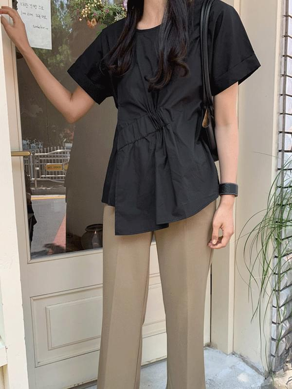 《Planned Products》 Basrock Banding Shirring Lab Blouse