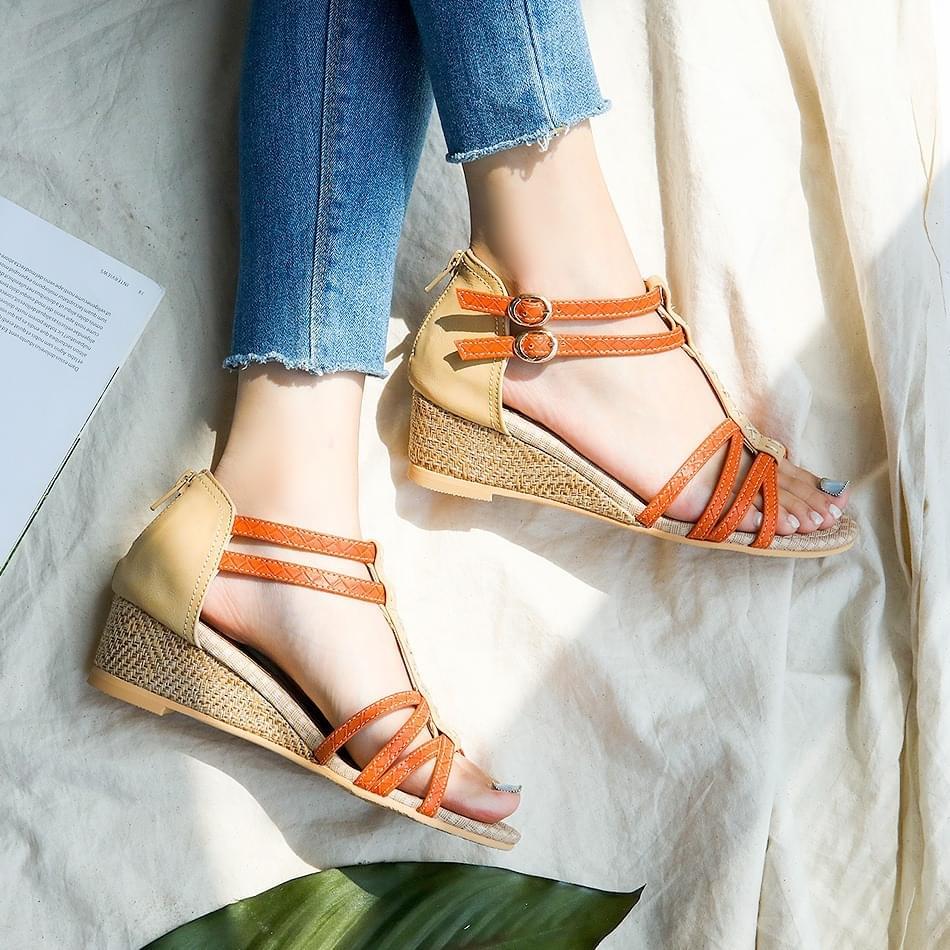 Itsren Wedge Slingback Sandals 4cm