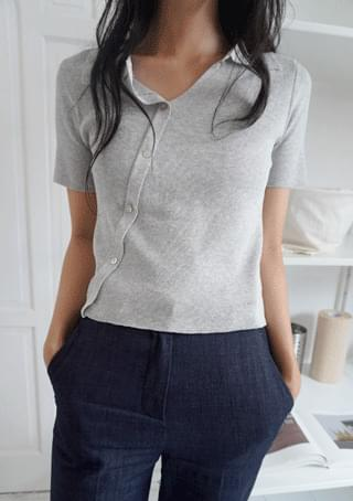 diagonal collar knit (3colors)