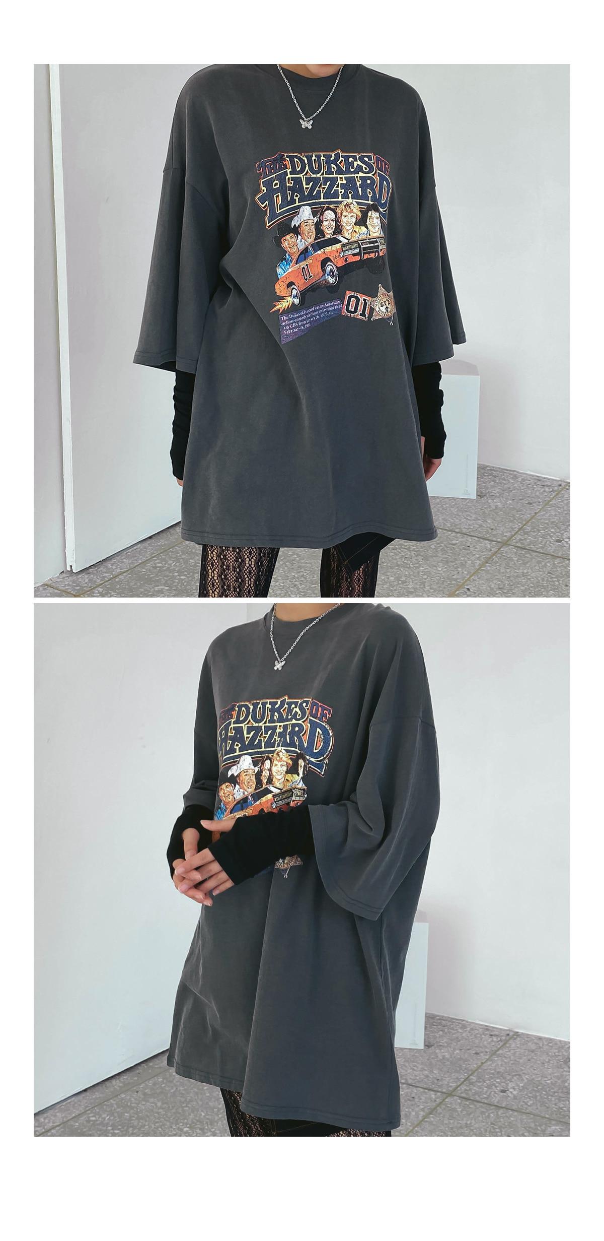 Loose-fit tran print T-shirt