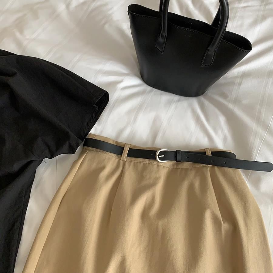 Office cotton skirt