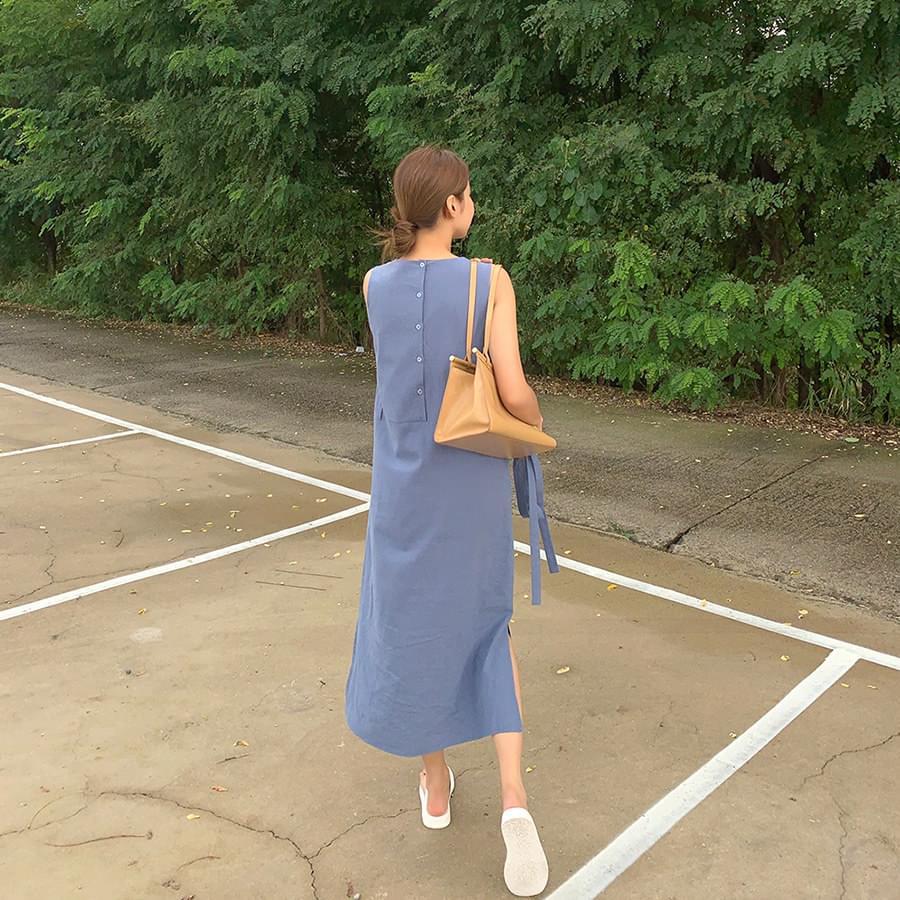Bonnie Button Dress