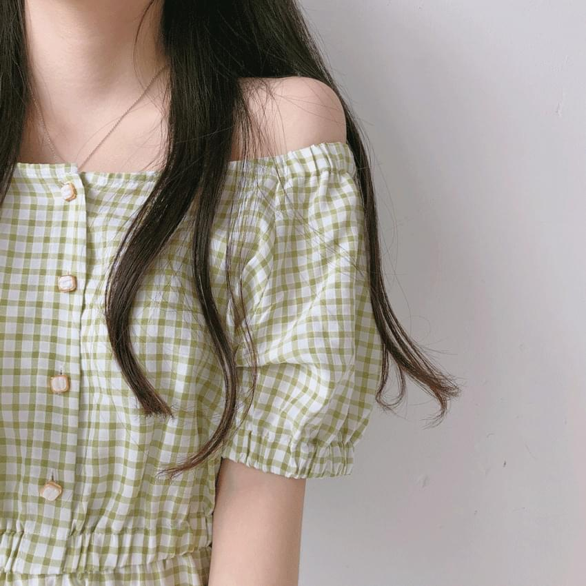 Almond Half Button Long Dress 洋裝