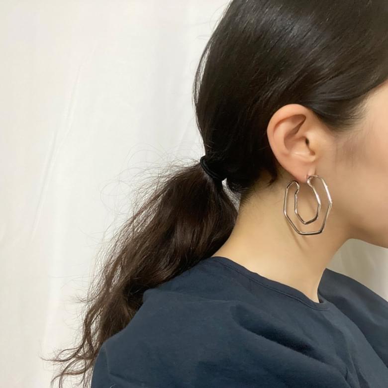Neu tunneling nickel nickel earrings