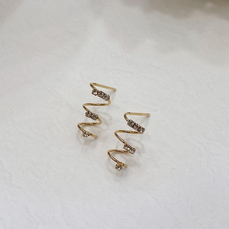 Noi spring titanium needle earrings