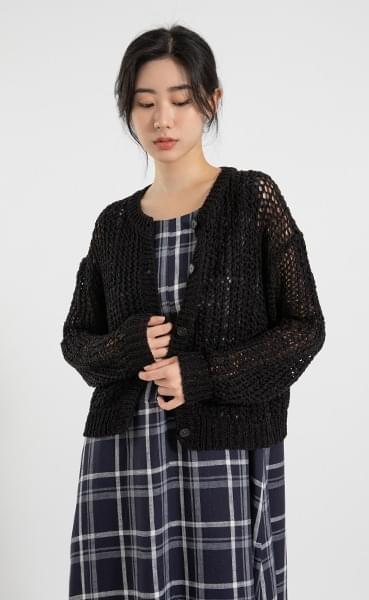 Wendy round neck knit cardigan