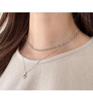 韓國空運 - Layered Cubic Necklace #86247 項鍊