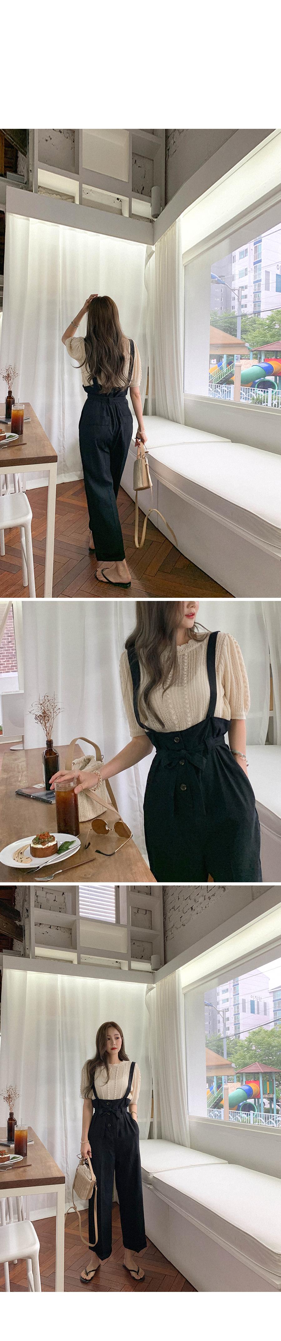 Fashionable silhouette button suspenders