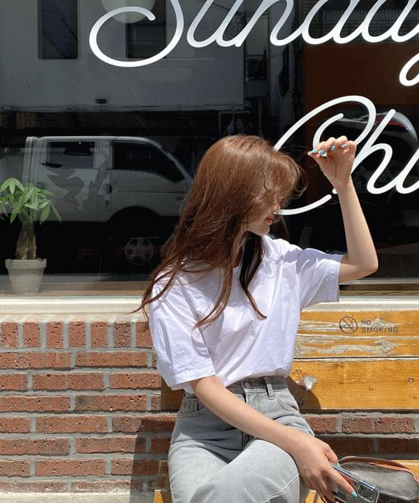 韓國空運 - Purity Cotton Short Sleeve Blouse * 襯衫