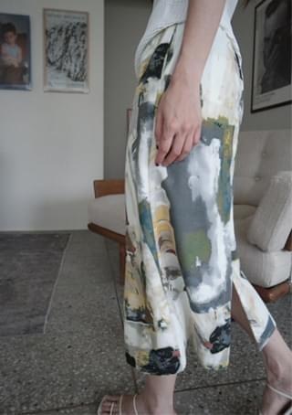 mysterious green skirt