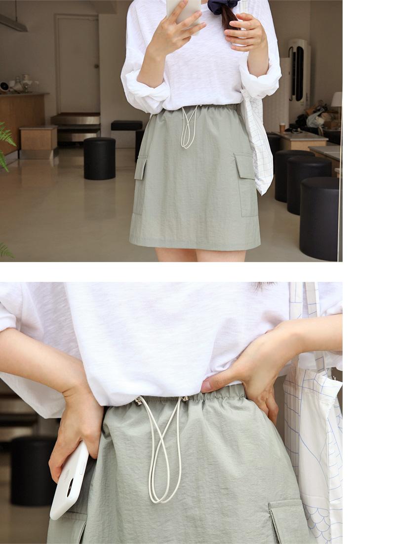 Sour pocket banding skirt_J