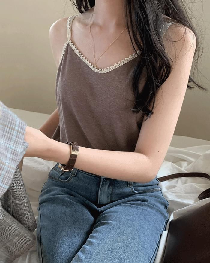 Veira lace linen sleeveless