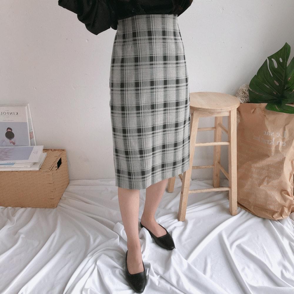 Lacome Check Long Skirt