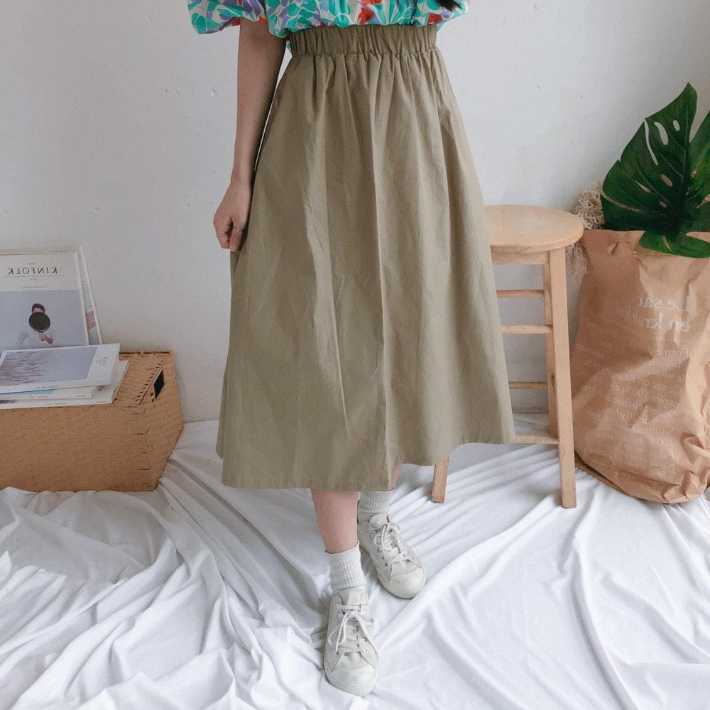 F wind flare long skirt 裙子