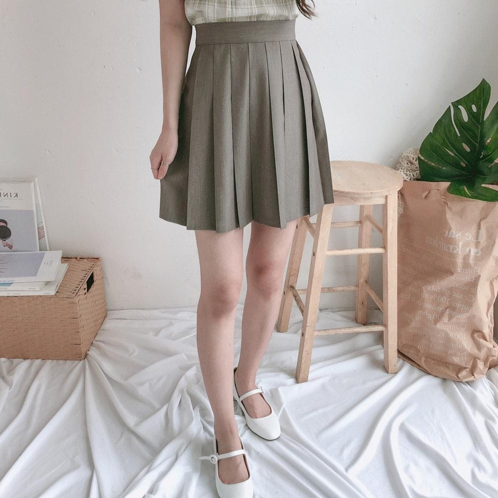Choco pleated mini skirt 裙子