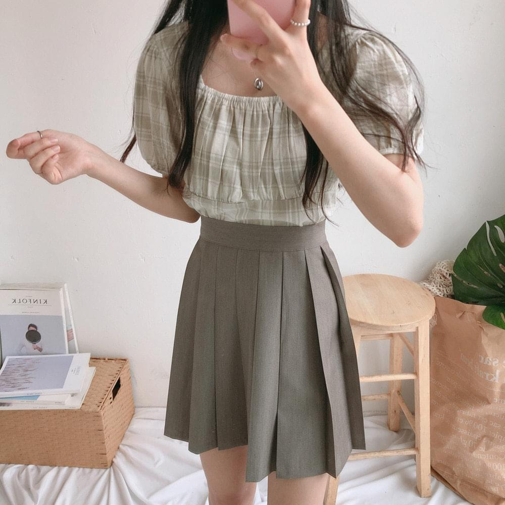Wehas Check Two Way Short Sleeve Blouse 襯衫